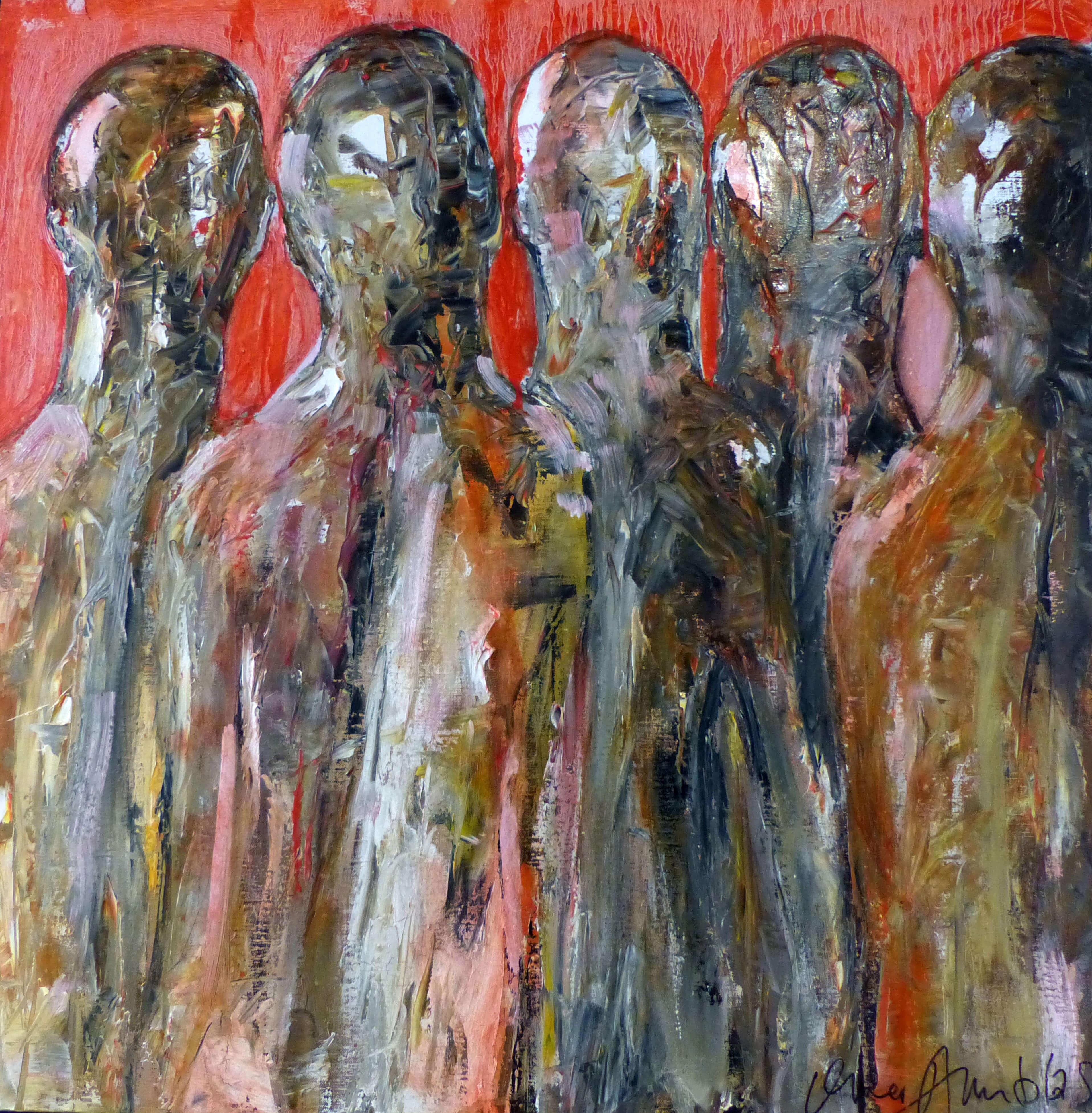 Toile Omer Amblas : série les insoumis, huile 80x80