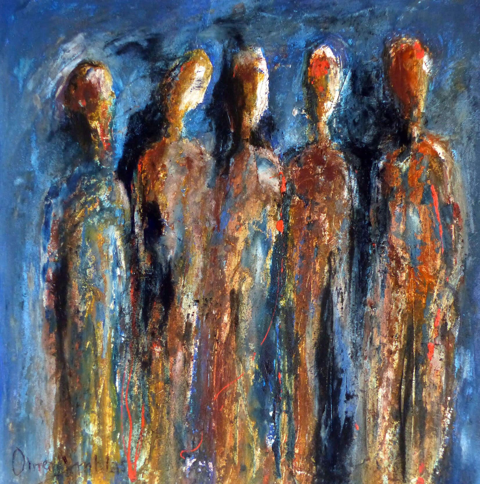 Peinture Omer Amblas : Les insoumis